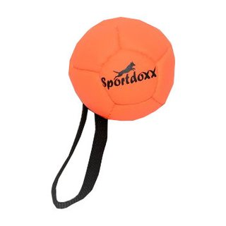 Softball mit Handschlaufe 120mm orange