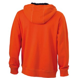 sportdoxx Zip-Hoody orange Gr.M