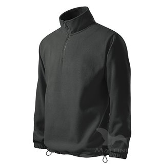 Fleece-Sweatshirt in dunkler Schiefer
